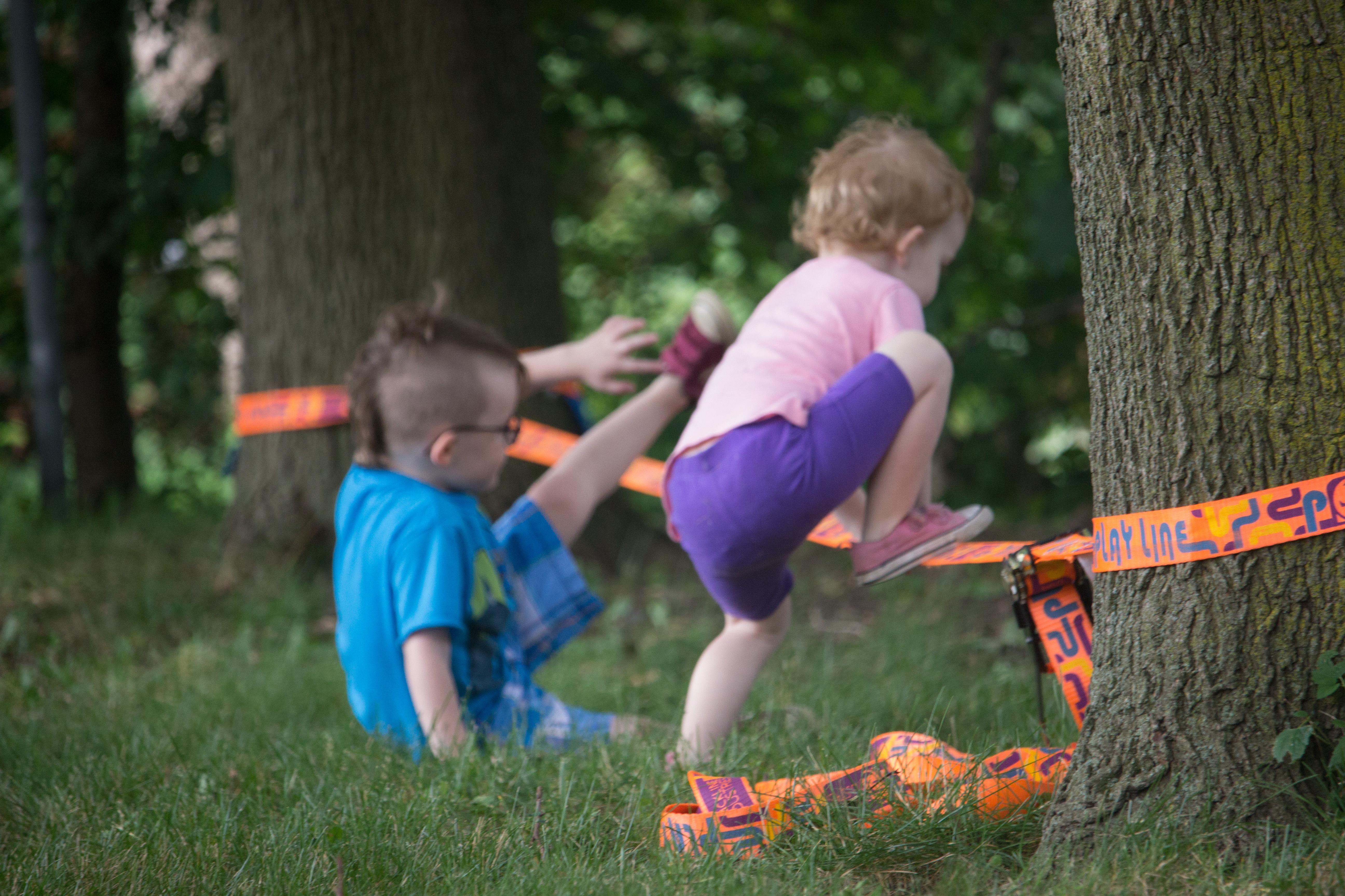 slacklining for kids