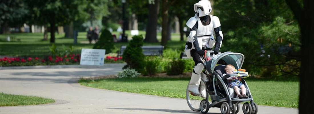 scout trooper unicycle stroller