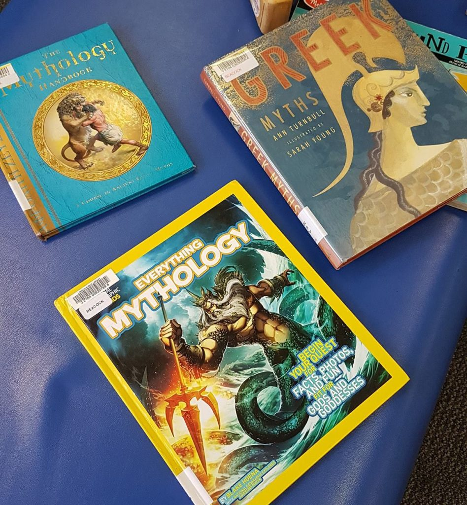 Library books about Greek Mythology for Kids
