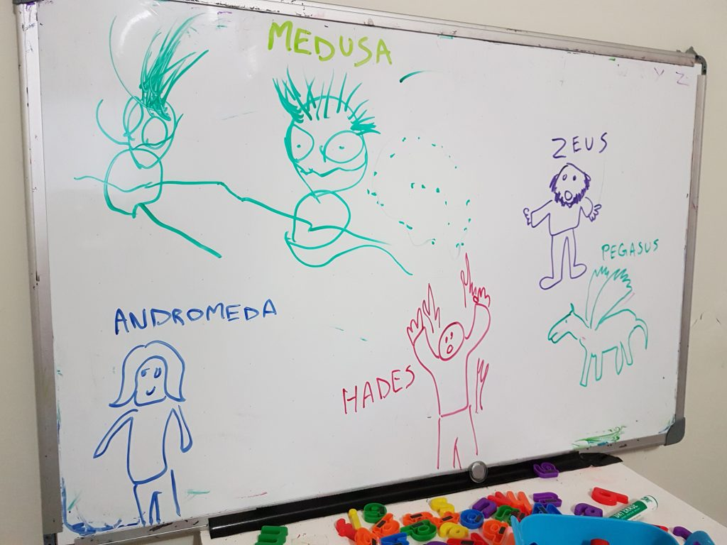 Greek Mythology on the Whiteboard